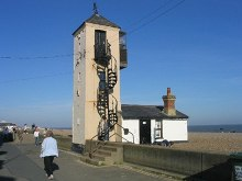 Aldeburgh, The old lifeboat house and lookout, Suffolk © John Winfield